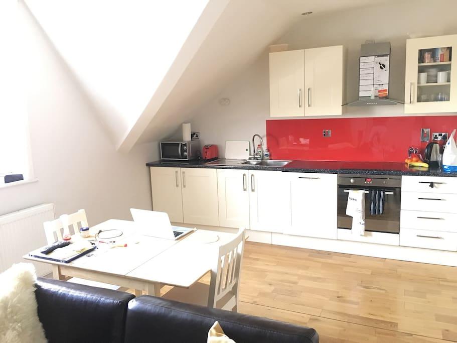 Kitchen area - large open plan