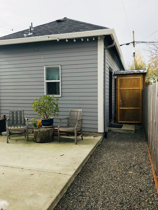 Studio Entrance & Patio