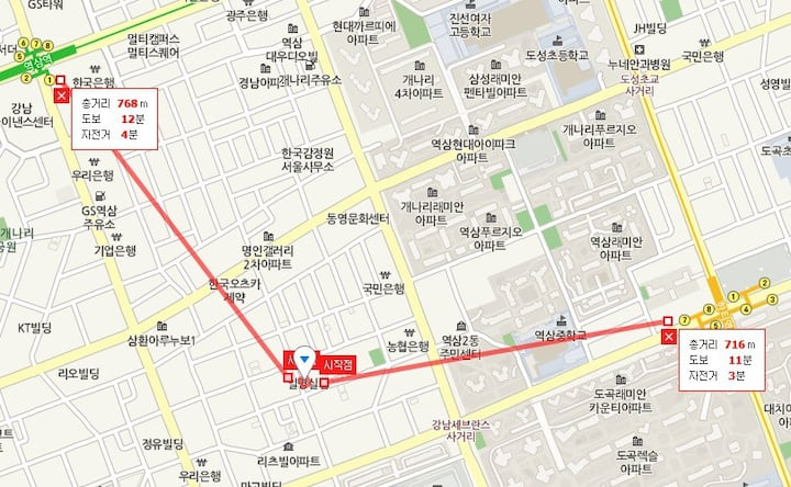 Gangnam area  Airport pick/drop service available