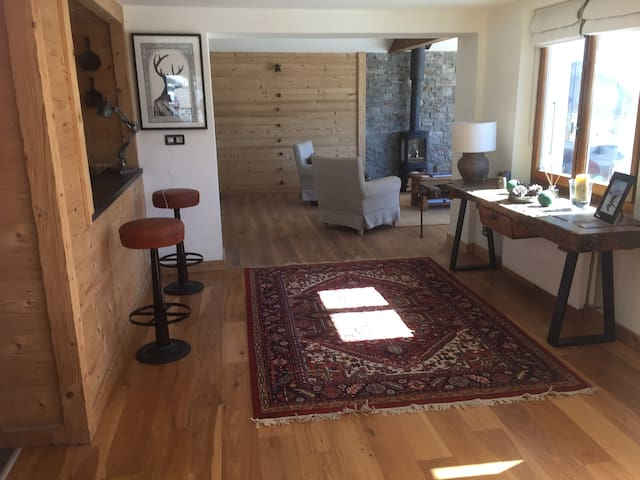 spacious open plan ground floor