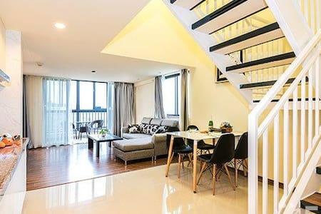 距白云机场15分钟豪华公寓2房一厅复式100平方适合早机转机可免费接送 - Apartamento