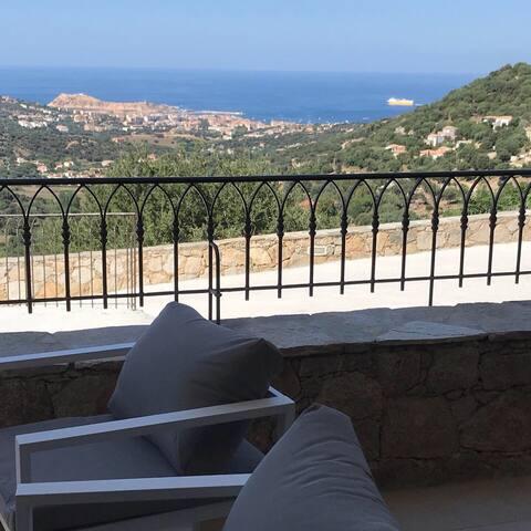 Bel appartement vue mer en Balagne n°3 rdc
