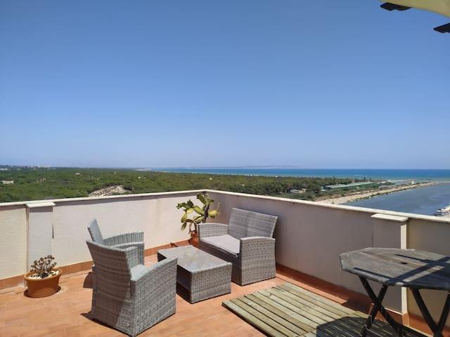 Magnifique vue sur la Méditerranée