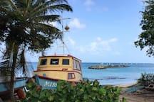 Fishing boat at Port St. Charles