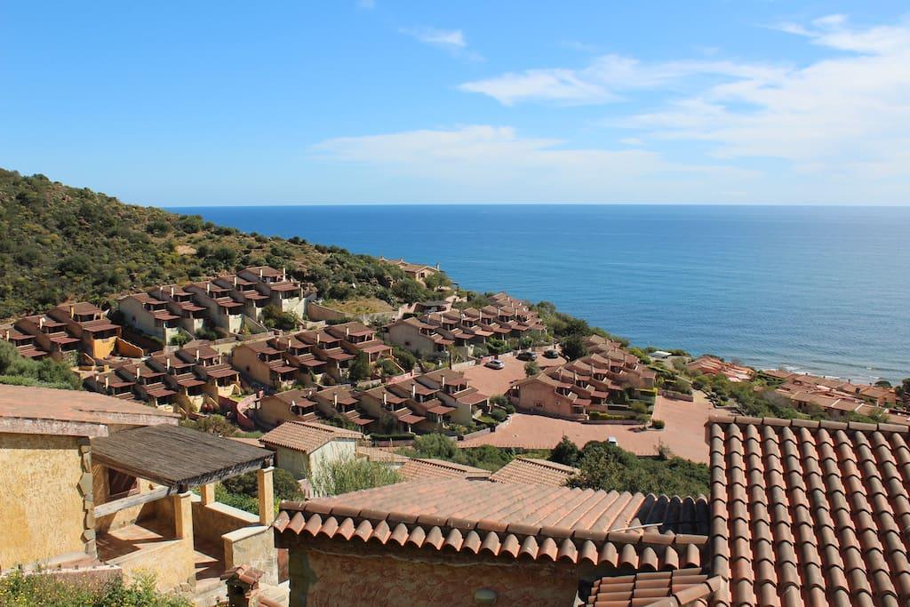 Villa panoramica fronte mare case in affitto a for 3 camere da letto 2 bagni piani ranch