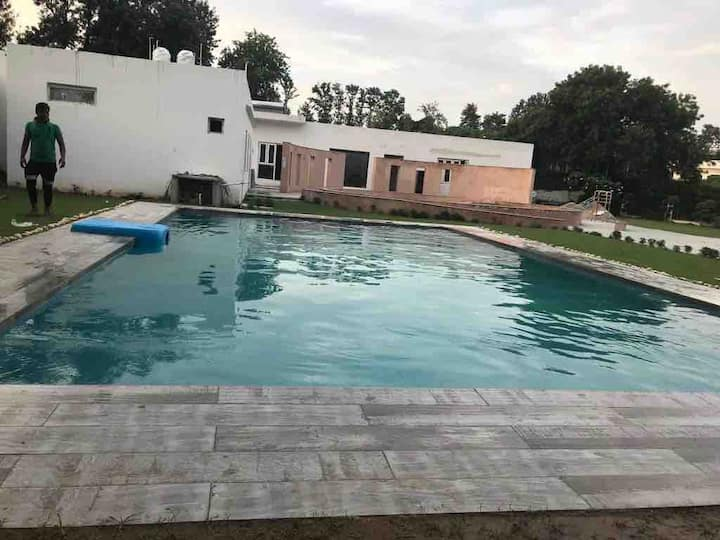 Swimming Pool Villa in 3 acre Lush Green Farm
