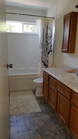 This will be your bathroom - not shared with household but may be shared with one other guest.