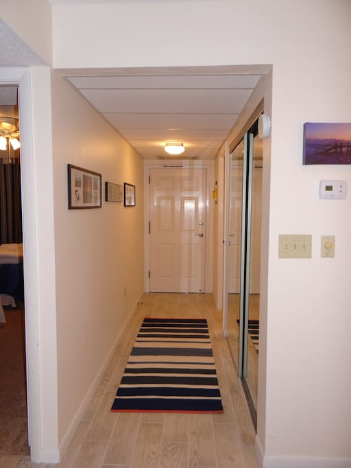 Bright and cheery entry hall way to your condo on the beach!
