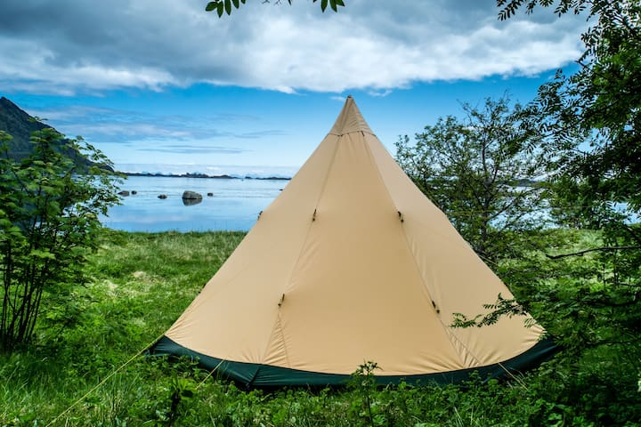 Lofoten tipi experience with amazing ocean view