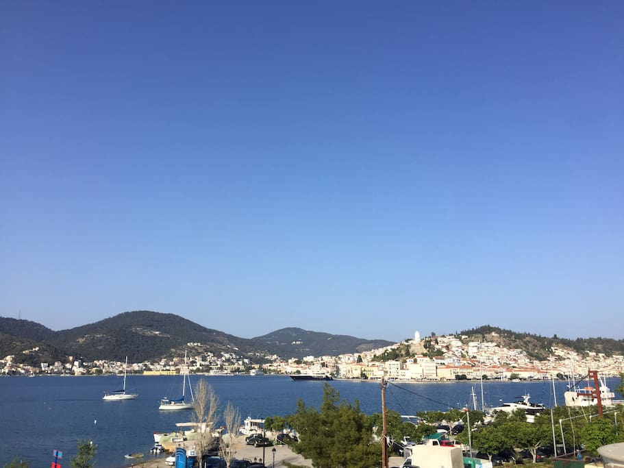 Poros Island, view from balcony.
