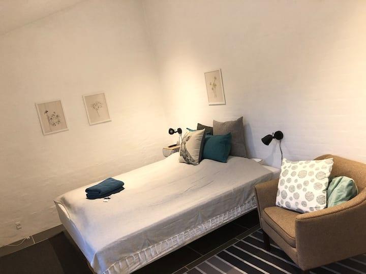 Hyggeligt dobbeltværelse (fælles bad/toilet)