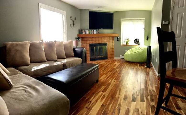 TV area with cable service and 40 DVDs