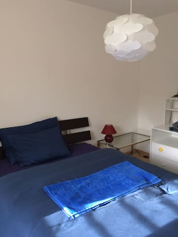 Lovely, light ground-floor en-suite bedroom - Coppet - Apartemen