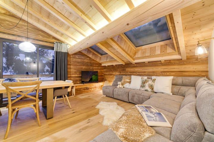 Superbe appartement neuf sur les pistes de ski