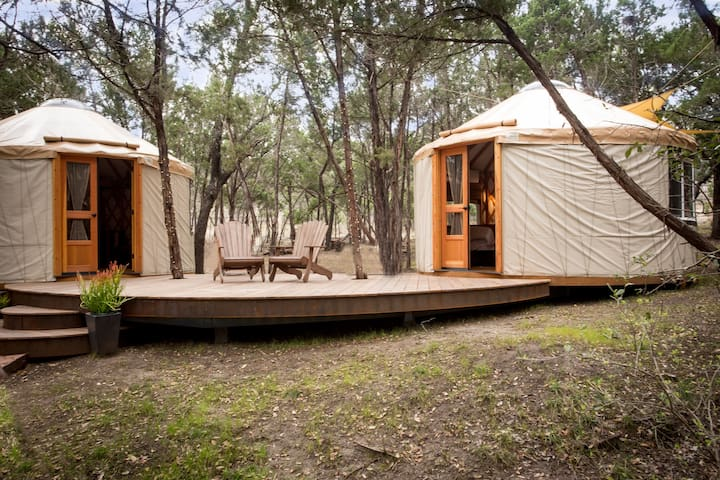 Connected deck for Yurts