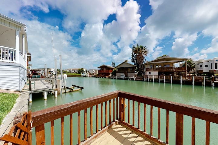 Premium Cleaned | NEW LISTING! Dog-friendly, waterfront getaway w/ a dock, shared pool, & hot tub
