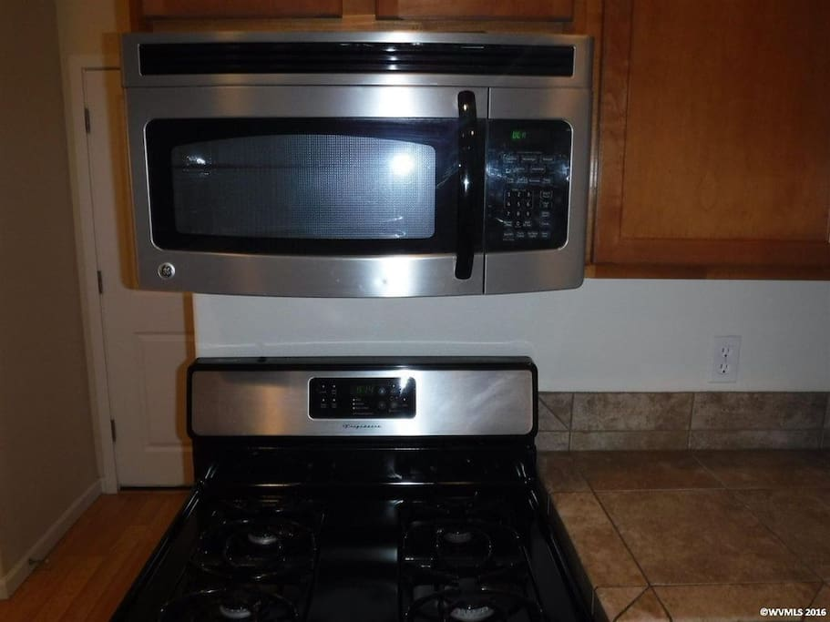 Microwave and Stove top