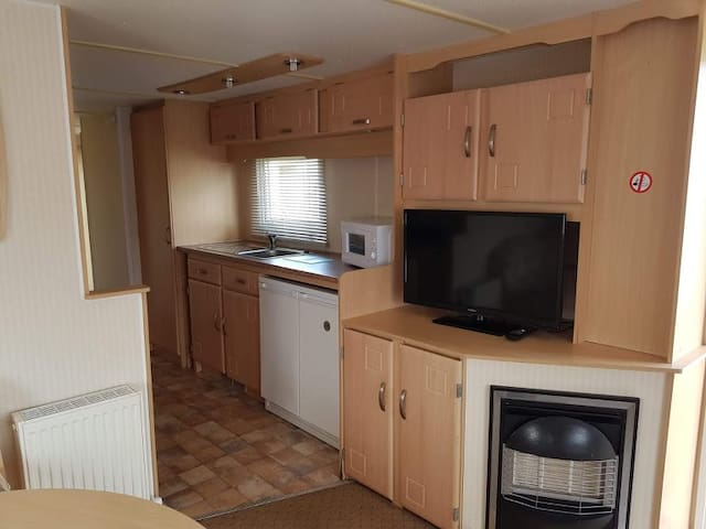 Very big caravan at Trecco bay Porthcawl.