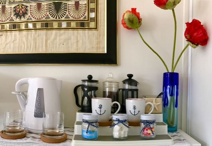 Make a cup of tea or coffee in your room while you enjoy the view