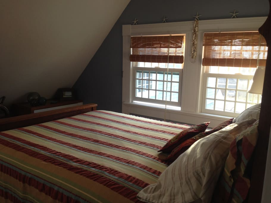 sweet bedroom with built in window seat (not shown) for reading and snoozing