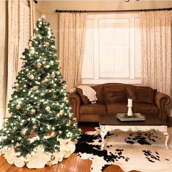 House is decorated for Christmas