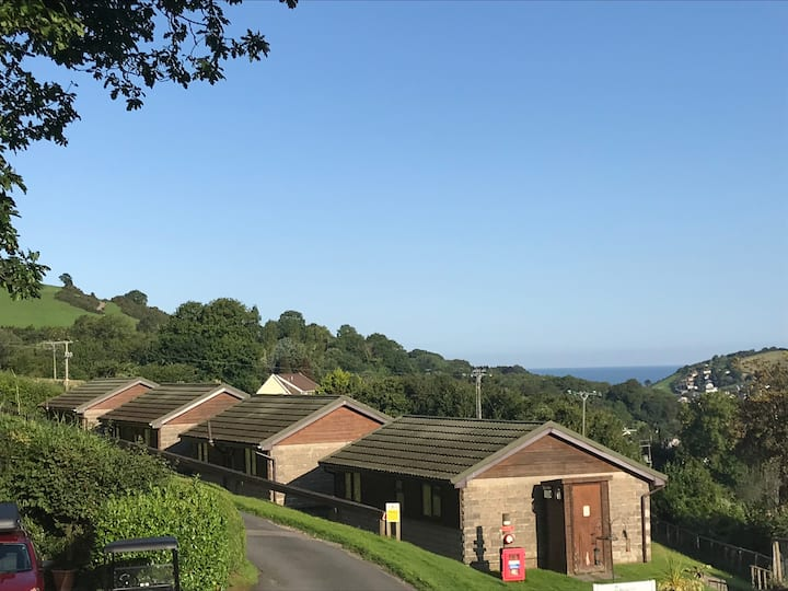 Combe Martin Chalet with Sea and Valley View
