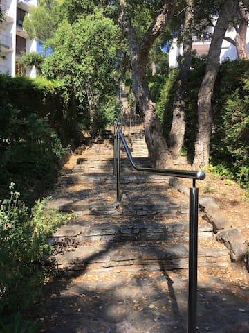 Escalier en pierre accès Residence