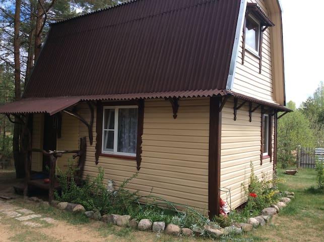 Гостевой домик «Гнездо аиста» в окружении сосен