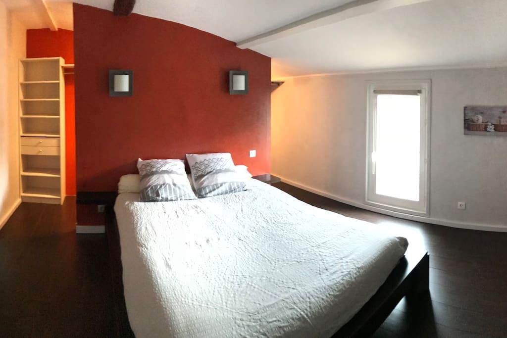 Chambre lit 160 + dressing