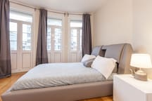 3rd Bedroom, with a beautiful trio of typical doord facing a balcony