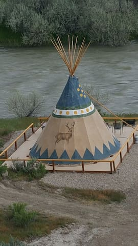 Cody Trout Ranch Camp Deer Tipi
