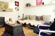 Große, gemütliche Couch