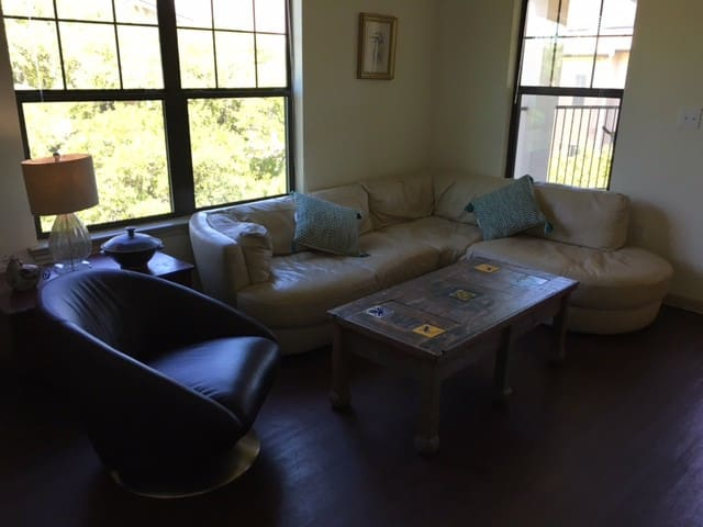 Luxury pad sectional sofa - view, breakfast, train - Cedar Park - Daire