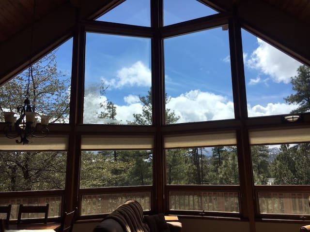 Secluded 3 BR Cabin in the Pines with Hot tub.