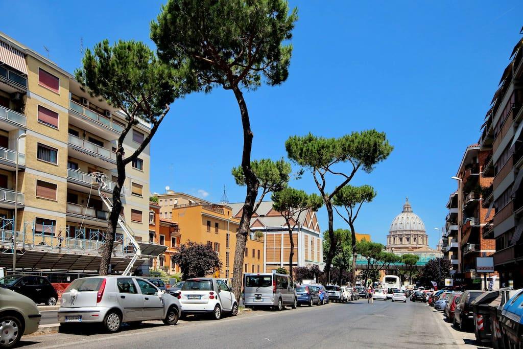 A piedi in Vaticano/by foot to the Vatican/a pied pour le Vatican
