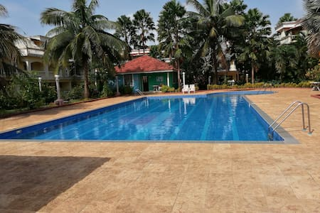 Apartment w/Pool,  3 Min. drive to Benaulim Beach