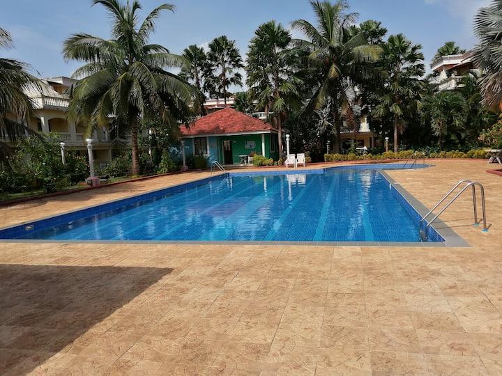 Apartment w/Pool,  3 Min. drive to Benaulim Beach