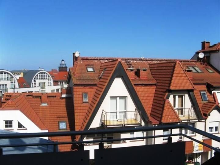 Mieszkanie z widokiem na morze, 150m od plaży