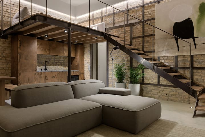 Designer Two-Level Loft at Golden Gate