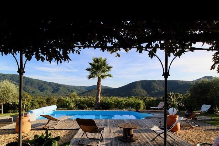 Villa piscine, Golfe St Tropez, Vue exceptionnelle