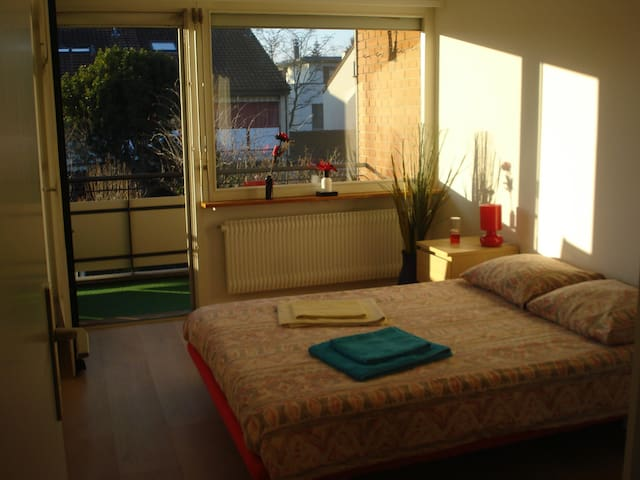 Calm & cosy room with balcony/WLAN - Riehen - Huis