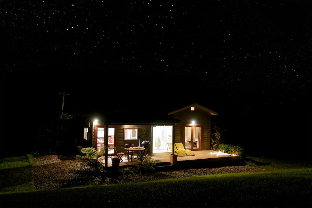Dairy Cottage night time view