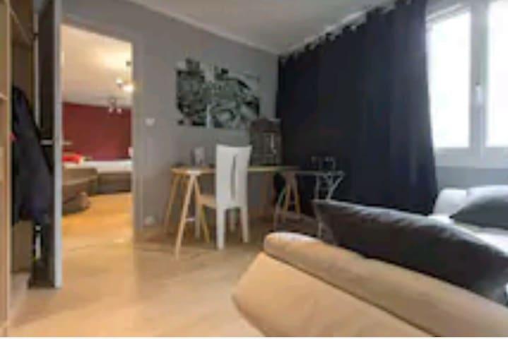 Cbre privée ds appart cosy Annecy parking gratuit - Annecy, Auvergne-Rhône-Alpes, FR - Apartamento