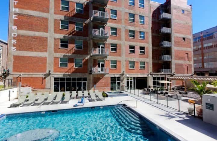 Luxury 1BD Loft downtown minutes from PNL!