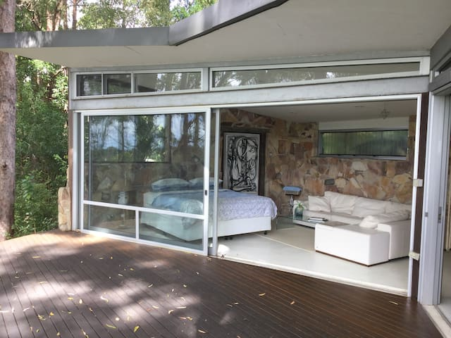 Byron Hinterland  self-contained tree-top room.