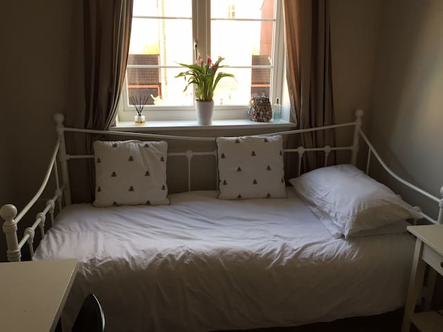 Single cosy room, in quiet peaceful abode, with live~in home owner. Sole use of own bathroom.