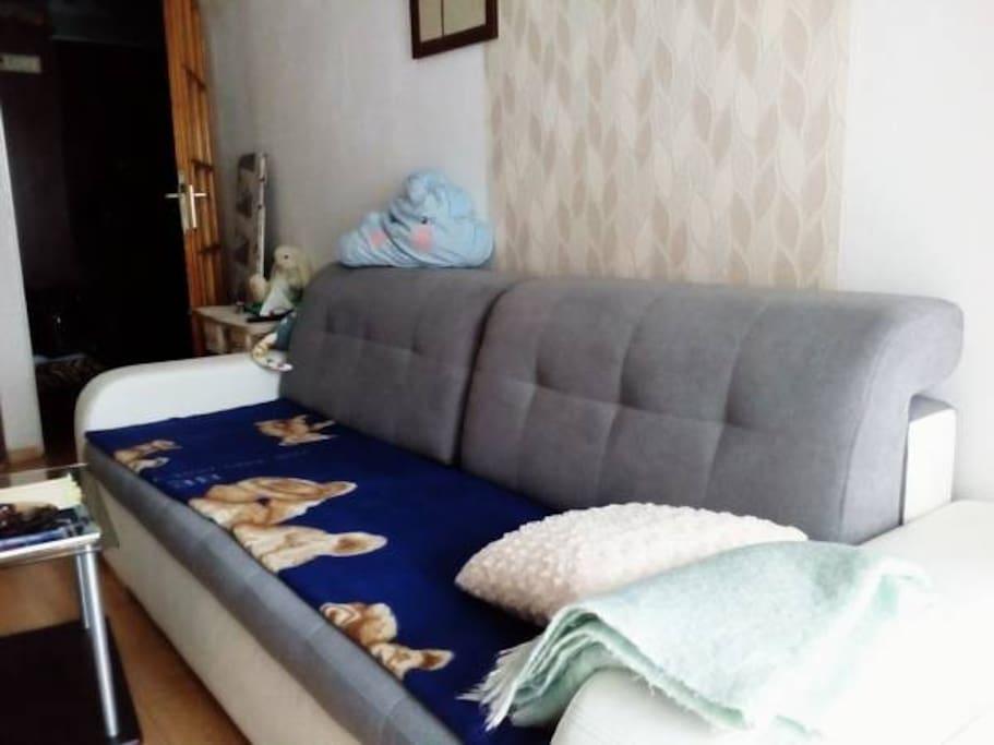 Kanapa rozkładana / Opened sofa
