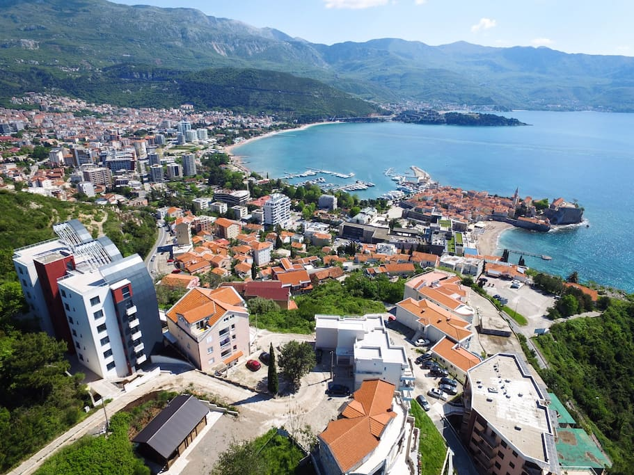 View from the site on Budva town