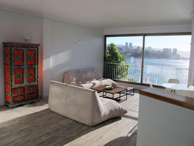 Lovely peaceful apartment with amazing ocean view - Viña del Mar - Apartemen