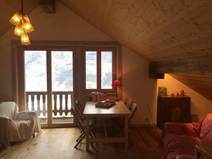 Charmant studio en pleine nature et vue splendide